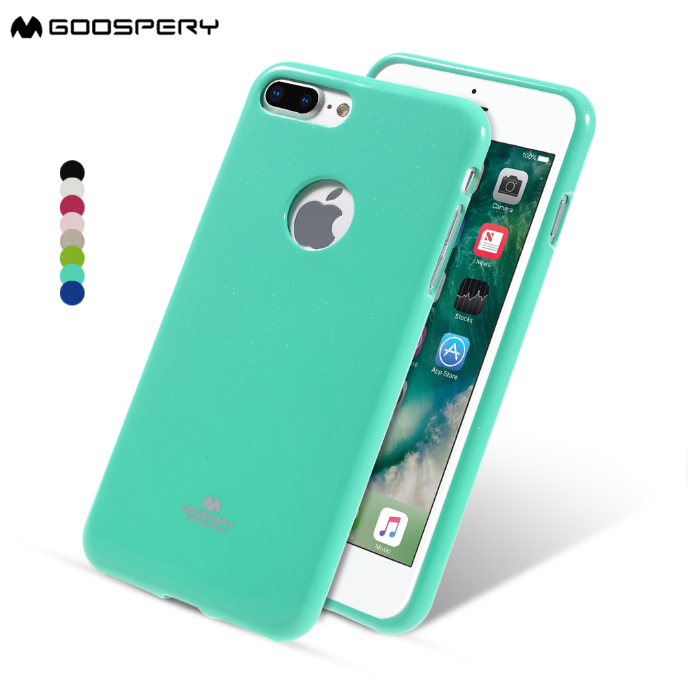 Original Mercury Goospery Color Pearl Jelly Flexible Tpu Soft Cover Iphone 7 Sky Slide Bumper Case Lime Phone For 8 Plus Glitter With Logo Hole