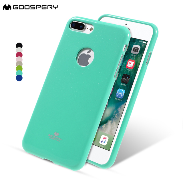 meet a417c 906d6 US $4.99 |MERCURY GOOSPERY Phone Case for iPhone 7 8 Plus Jelly Glitter TPU  with Logo Hole Cover for iPhone 8 Plus 7 Plus Coque Capa-in Fitted Cases ...