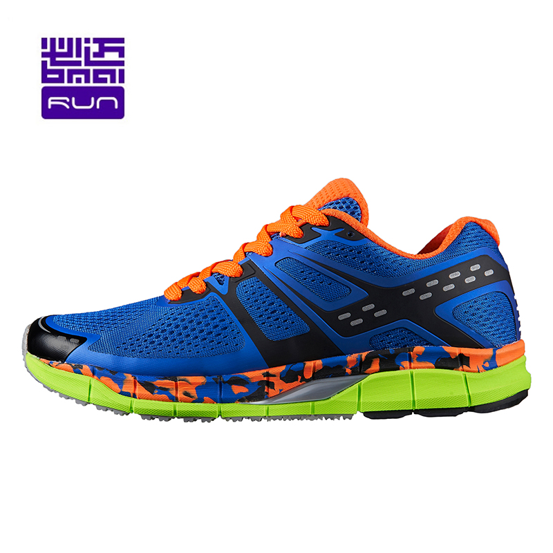Light Running Shoes for Men 21KM Marathon Lace-up Sneakers Breathable Mesh Men's Low Athletic Cushioning Women Sports Outdoor bmai running shoes men women cushioning professional marathon 21km breathable ultralight athletic outdoor sport sneakers lovers