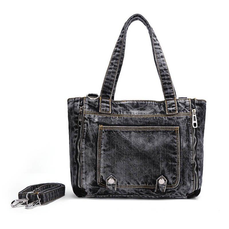 все цены на Famous brand women handbag casual large tote bag female high quality denim wide shoulder strap messenger bag clutch