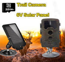 Free Shipping!32GB H801W 12MP Infrared IR Digital Trail Game Hunting Camera TVL +6V Solar Battery