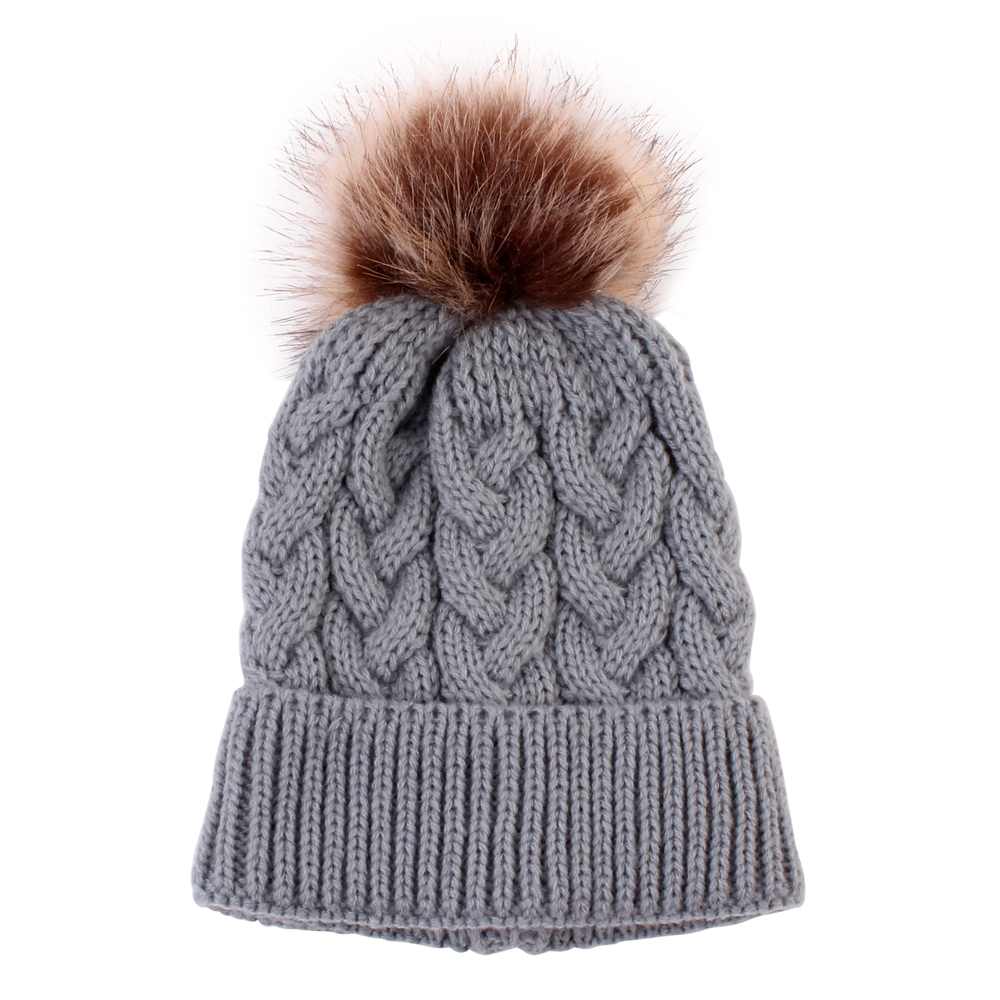 Kids-Girls Knitted Beanie Hat with Bow and sequins RJM Accessories One Size