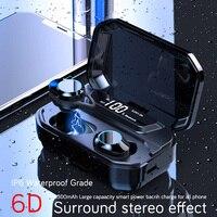 Latest True Wireless Touch Smart TWS Earphones Bluetooth 5.0 Sport Hifi Headphones Waterproof IPX6 6D Sound Surround Headphones