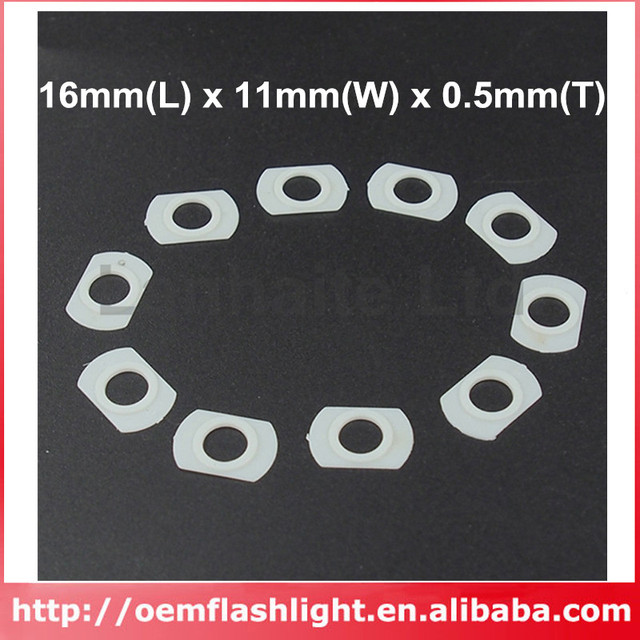 16mm(L) x 11mm(W) x 0.5mm(T) White Plastic Insulation Gaskets for ...
