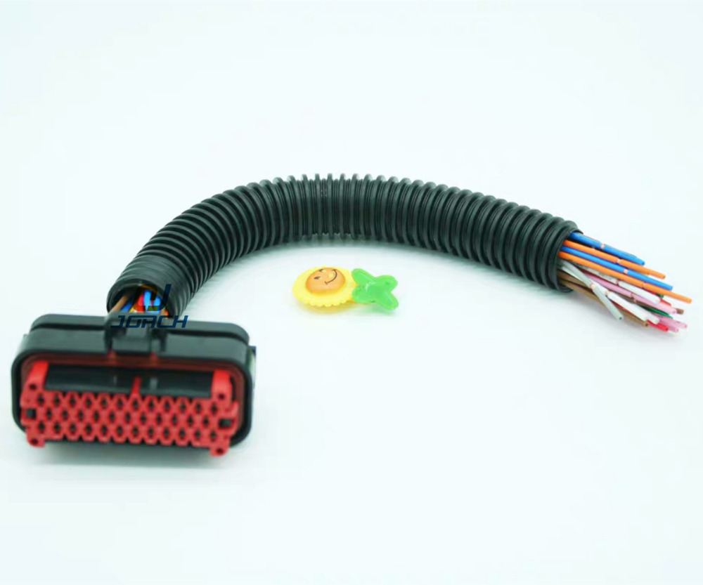 hight resolution of 1 set 35 pin tyco amp female automotive waterproof ecu wire wiring harness auto plug 776164 1 with 15cm cable