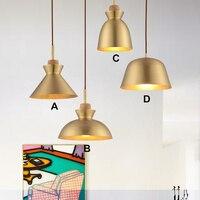 Ресторан лампы и фонари, медь кафетерий, mcaron один глава настольная лампа, одна голова бар лампы, латунь подвесной светильник