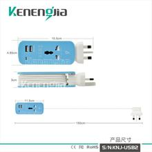 2017 Universal 2 USB Port 5V 4.2A US EU UK AU Plug Travel AC Power Adapter Socket Smart Wall Charger For Cell Phone Tablet PC