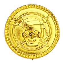 100&50Pcs & dozen Plastic Pirate Gold Coins Treasure Toys Coins Captain Pirate Halloween Christmas Decoration Game Currency