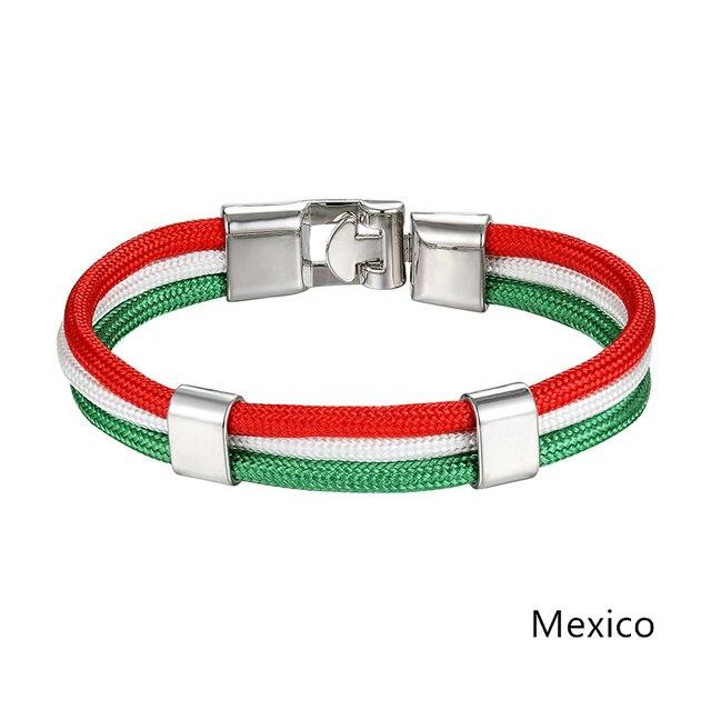 Браслет jaafar с мексиканским государственным флагом мужской