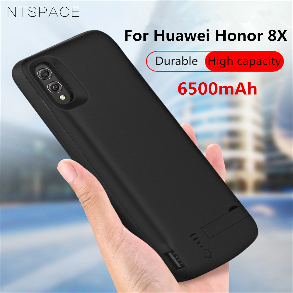 935b26421cb NTSPACE Power Bank Pack Case For Huawei Honor 8X Battery Case 6500mAh  Backup Battery Charger Cases For Honor 8X Charging Case