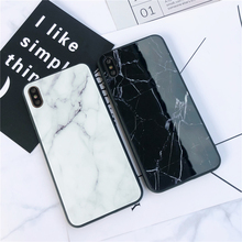 ZKFYS Marble Gradient Colorful Glass Case For iPhone 7 8 6 6S Plus Tempered Cases X XS Max XR Back Cover