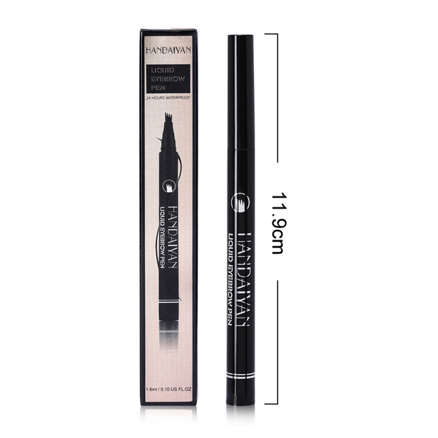 5 Color Microblading Eyebrow Pencil Waterproof Fork Tip Tattoo Pen Tinted Fine Sketch Eye Brow Pencils Long Lasting Eyebrows 5