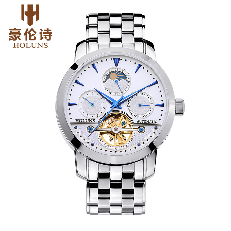 Luxury Top Brand HOLUNS Men's Automatic Mechanical Watches Business Male Casual Watch Full Stell Wrist Watches Clocks Relogio