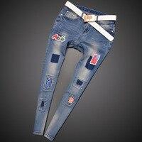 Новые модные брендовые женские узкие Джеггинсы эластичный деним Штаны стиральная цвет хорошее качество Женские повседневные джинсовые бр