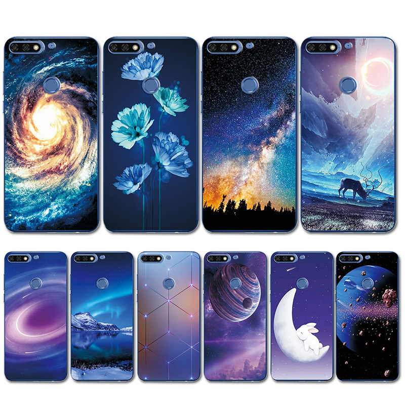 Phone Case For Huawei Y6 2018 Brilliant aurora Color Silicone Cover Funda For Huawei Y6 Prime 2018 Bumper Case Y6 Y 6 Prime 2018