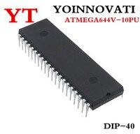 Бесплатная доставка 1 шт./лот ATMEGA644V-10PU ATMEGA644V-10 ATMEGA644V MCU 8BIT 64KB флэш-40DIP лучшего качества