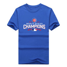 Chicago 2017 World Series Champions 2017 Men T-shirt 100% cotton short sleeve o-neck  Cubs T shirt 1030-3