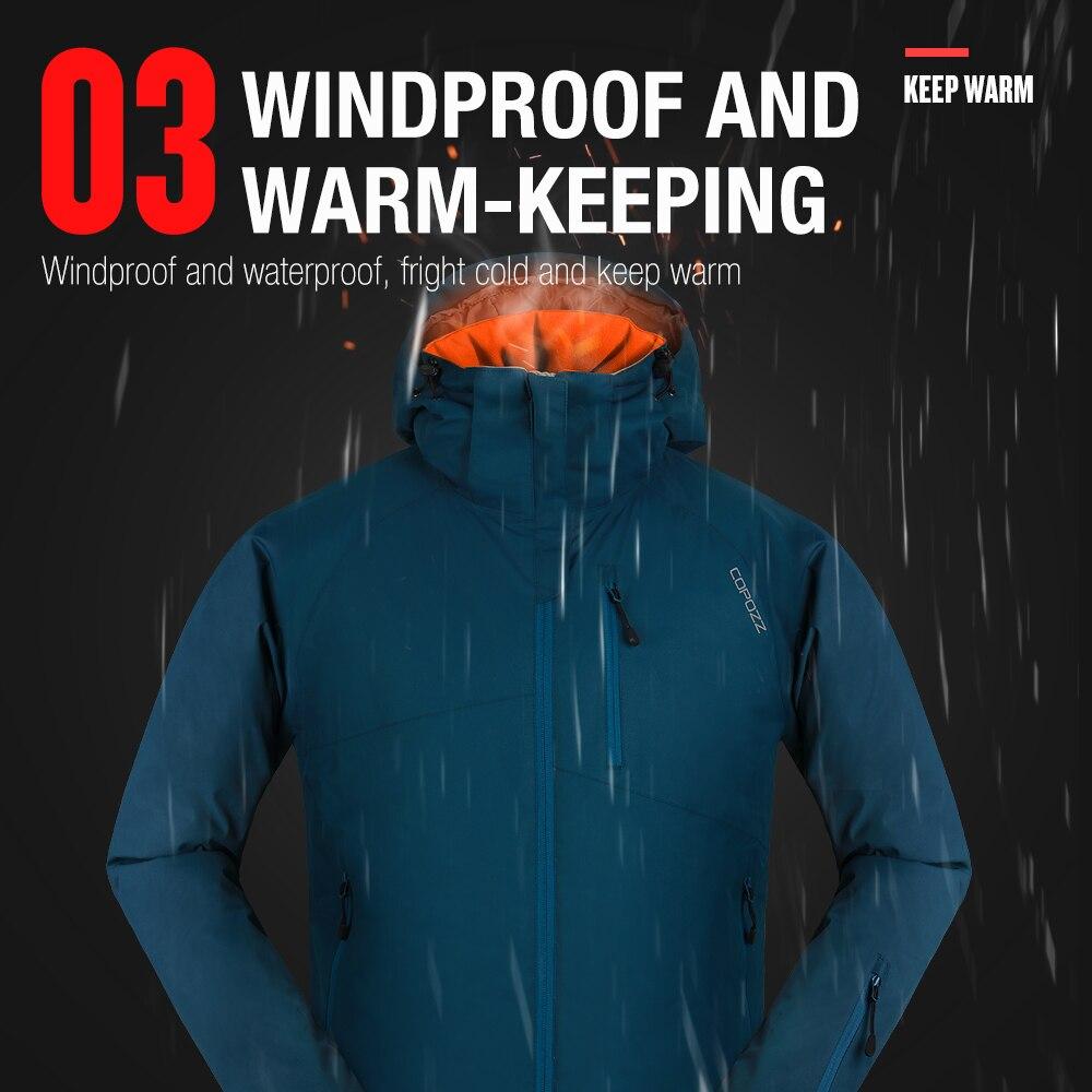 COPOZZ combinaison de Ski montagne imperméable Snowboard veste de Ski chaude et pantalon ensemble de Ski hommes femmes hiver en plein air femme mâle neige costumes - 5