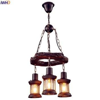IWHD Retro Stile Dell'annata Del Pendente Lampade Loft Ristorante Country Americano Edison Industriale A Sospensione Apparecchi di Illuminazione Illuminante
