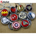 Beer Bottle Opener Keychain Superhero logo Key Chain & Key Ring Holder Keyring Porte clef Gift Men Women Souvenirs MV089