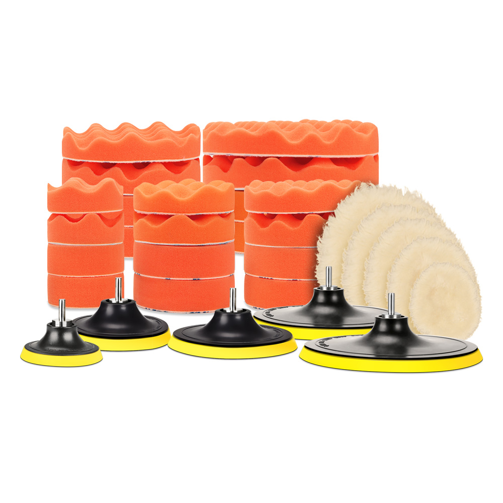 "SPTA 7Pcs High Gross 3""/4""/5""/6""/7"" Polishing Pad Buffing"