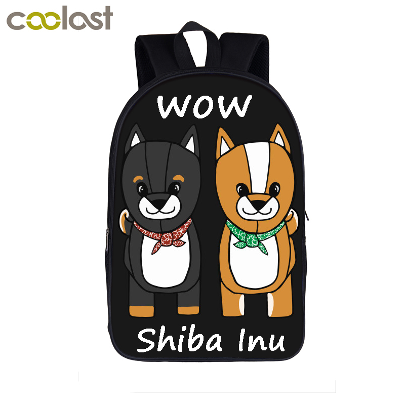 Cute Puppy Shiba Inu Dog Backpack For Teenage Boys Girls Women Men Travel Bags Doge Funny Laptop Backpack Children School Bags funny cartoon game over backpack for teenage boys girls children school bags kids backpack laptop shoulder bags best gift