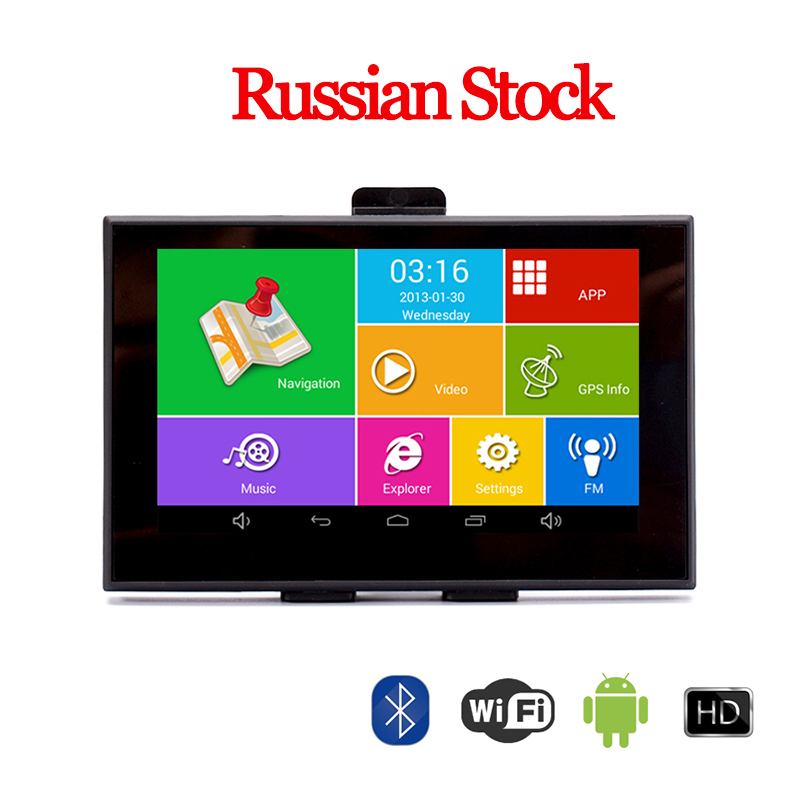 5 Android GPS Car Truck Navigation IPS Capacitive Bluetooth wifi 8G 512M AV IN Precise Localization