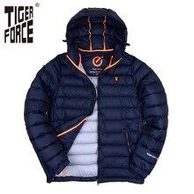 TIGER FORCE Men Winter Jacket Fashion Cotton Padded Jacket Spring Autumn Polyester Coat Bio-Cotton European Size Free Shipping