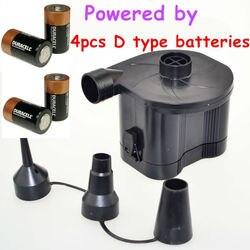 Elektrische Batterie Luftpumpe Inflate Deflate DC durch 4 stücke D typ größe trockenbatterien für Spielzeug Luftmatratze Hovercraft Boot Außen