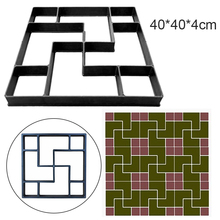 40*40*4cm DIY Paving Mold Stepping Stone Pavement Driveway Patio Paver Path Maker Floor Garden Design