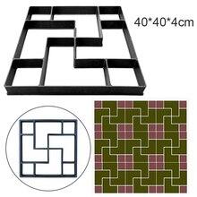 40*40*4cm DIY Pflaster Form Stepping Stein Pflaster Einfahrt Terrasse Fertiger Pfad Maker Boden Garten Design
