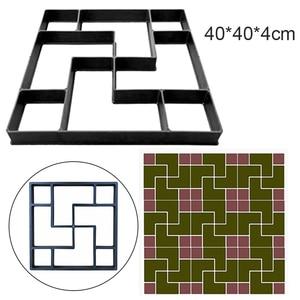 Image 1 - 40*40*4cm pavimento DIY molde paso a paso Pavimento de Piedra pavimento camino de entrada Patio sendero fabricante de suelo jardín diseño