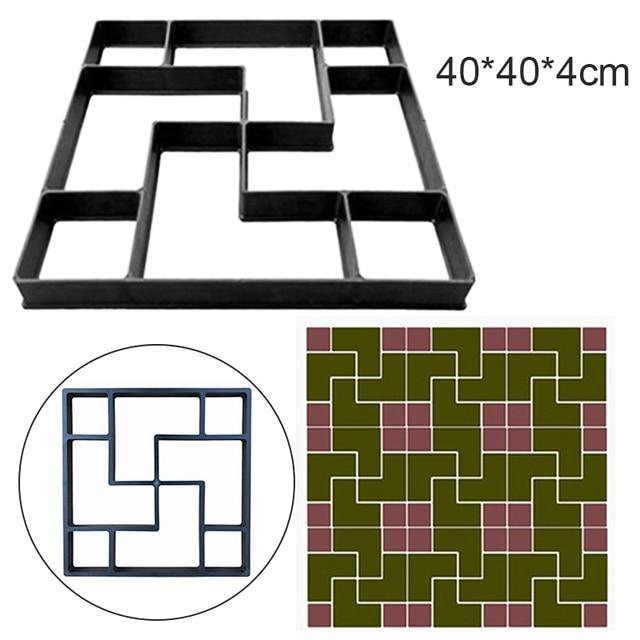 40*40*4cm pavimento DIY molde paso a paso Pavimento de Piedra pavimento camino de entrada Patio sendero fabricante de suelo jardín diseño
