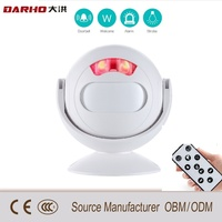 Darho Chargable Wireless Doorbell Welcome IR Infrared Motion Sensor Alarm Store Shop Door Bell Chime