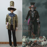 Бесплатная доставка с оформлением в стиле «Алиса в стране чудес костюм безумного Шляпника» Джонни Деппом значок из кинофильма Косплэй сде