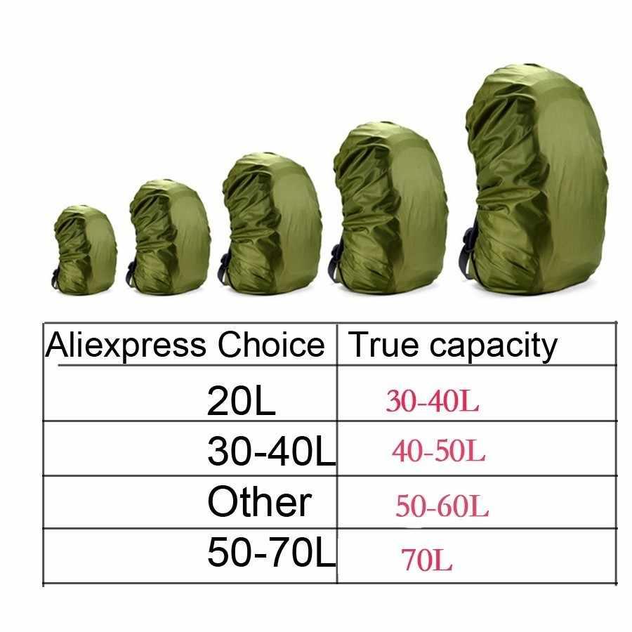 Mendaki Ransel Rain Cover Ransel 35L 45L 50L 60L Tas Tahan Air Cover Camo Taktis Outdoor Camping Hiking