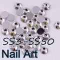 SS3-SS50 Crystal Nail Art Piedras Con Redondo Flatback Para DIY Uñas de Arte Bolsas Y Vestido de Novia