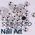 SS3-SS50 Crystal Nail Art Rhinestones With Round Flatback For DIY Nails Art Bags And Wedding Dress