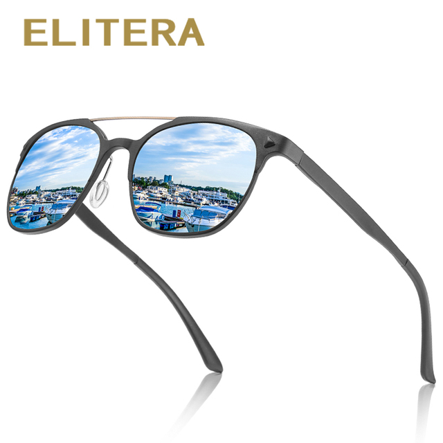 975cbe0538 ELITERA Brand Design Aluminum magnesium Polarized Sunglasses Men Women  Classic Sun Glasses Eyewear UV400 Protection