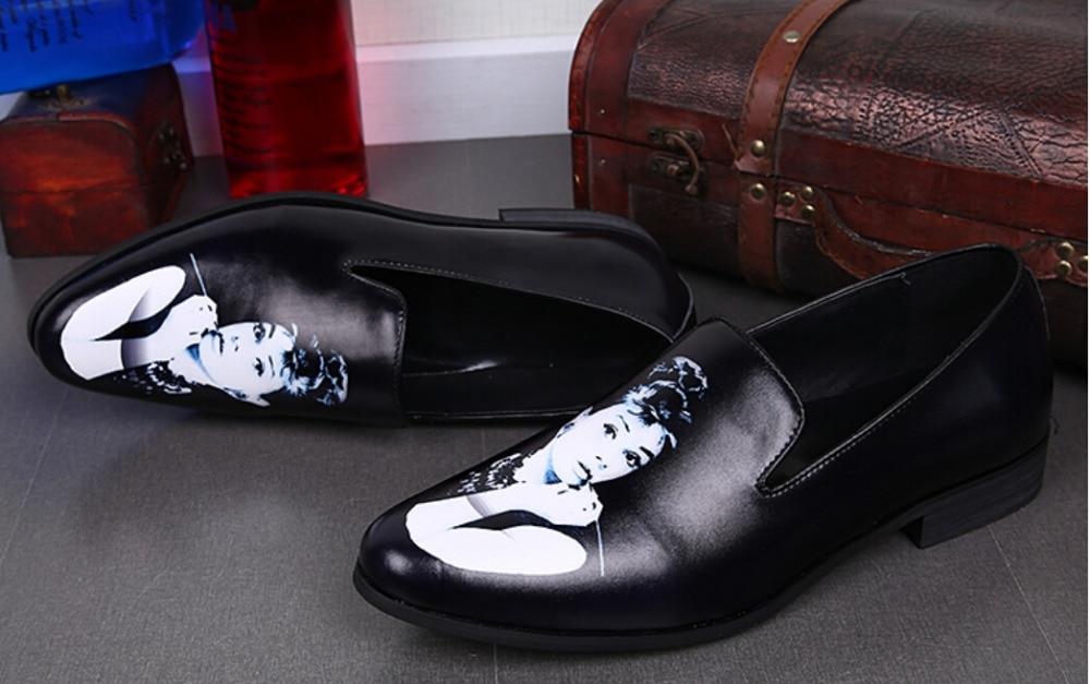 Pour Nouvelle Pic Hommes Arrivée 2015 Appartements Beauté Mocassins Sur Casual 38 Pic Rond Taille Les as Glissement De Marque Chaussures Imprimer Designer Bout Mode 46 As rWrzdq