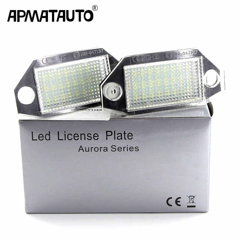 2PCS CANbus White Car License Plate Light Lamp No Error LED Number For Ford Mondeo MK3 2000-2007 12V Plug and Play