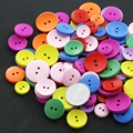 30 Pcs/Set Mixed Color Sewing Round Shape Lovely Buttons Toys Wooden Colorful Clasps DIY Assembling Buckles Baby Kids Game Gifts