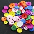 30 Unids/set Color Mezclado Costura Forma Redonda Encantadora Botones Cierres DIY Montaje de Juguetes De Madera Colorido Hebillas Bebé Juego Niños Regalos