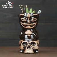 Creative ฮาวายแก้ว Skull ตุ๊กตา Tiki แก้วค็อกเทลเบียร์ถ้วยแก้วเซรามิค Tiki แก้วศิลปะหัตถกรรม