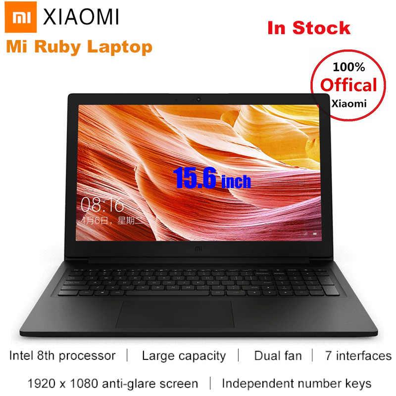2019 Xiao mi mi Ruby 15.6 ''Laptop Notebook Windows 10 intel core I5-8250U czterordzeniowy 8GB 512GB nvidia geforce MX110 odcisk palca