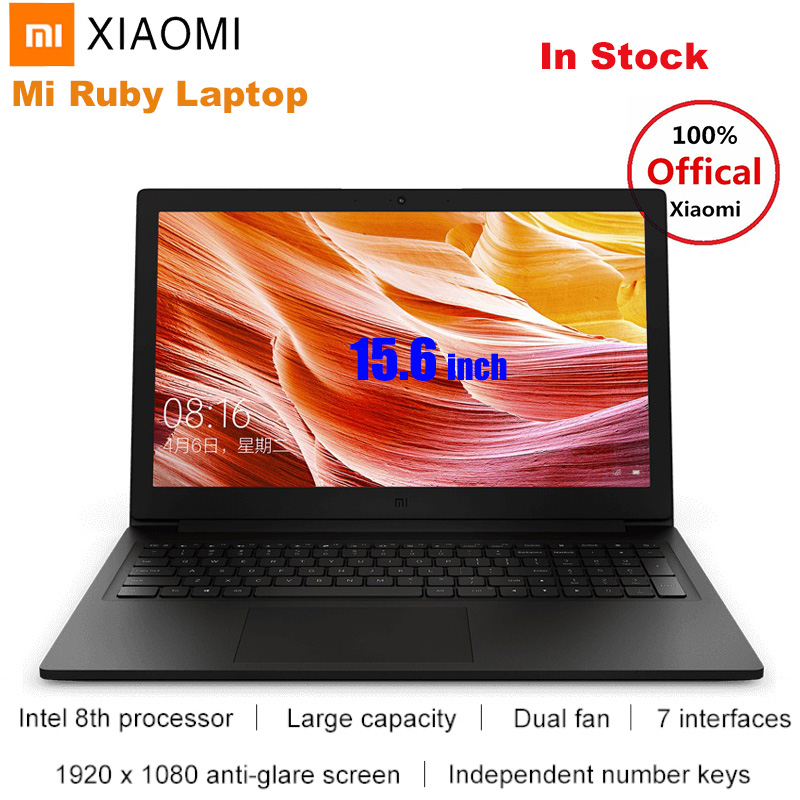 2019 Xiaomi Mi Ruby 15.6'' Laptop Notebook Windows 10 Intel Core I5-8250U Quad Core 8GB 512GB NVIDIA GeForce MX110 Fingerprint