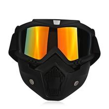 Лыжный Велосипед Мотоциклов Маска Очки Мотокросс Мотоцикл Двигателя Открытым Лицом Шлемы Съемный Goggle Vintage Очки Универсальный