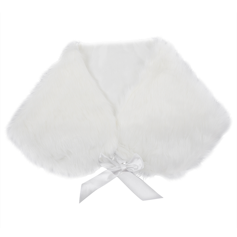 BOFF Ivory Plush Faux Fur Women Wedding Wraps Shrug Bridal Shawls ...