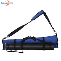 Takedown Bow Bag with Deluxe Blue Canvas for Archery Outdoor Hunting Shooting Case Bows Portable Bag & Arrows Quiver Tube Holder