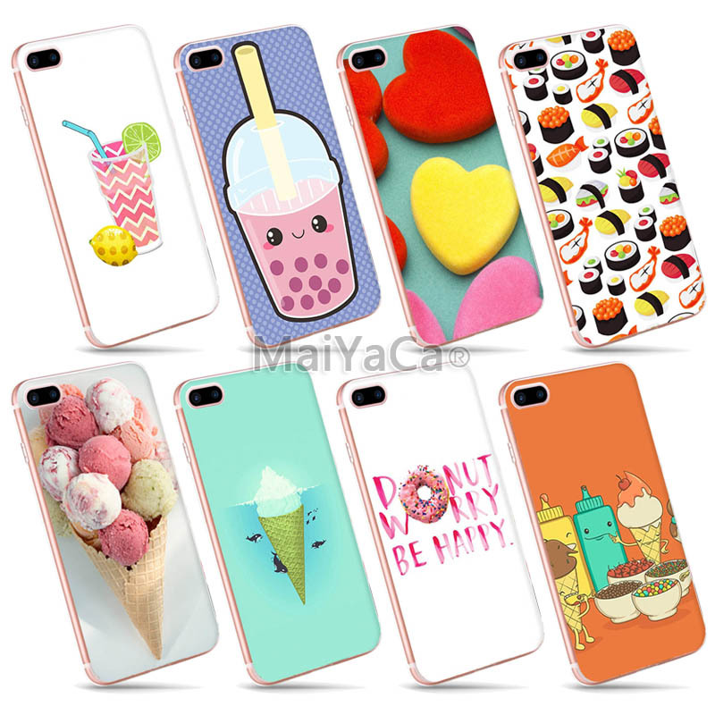 MaiYaCa Colorful Phone case Accessories cover For iPhone 6 6s Case sweet food icecream cake candy
